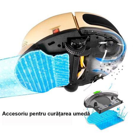 Poza Poza Aspirator robot OBERON-full, Curatare inteligenta, Autonomie pana la 110 min, Aspirare/stergere umeda, Perete virtual