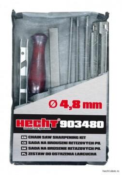 Poza Kit HECHT 903480 Set de ascutire a lantului, pila 4.8 mm pentru ascutire lant motofierastrau