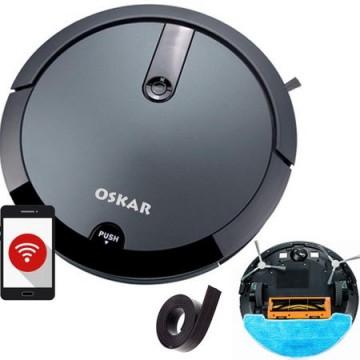 poza Aspirator robot  OSKAR-full, Perie centrala, Wi-Fi, Curatare sistematica, Aspirare/stergere umeda, Perete virtual