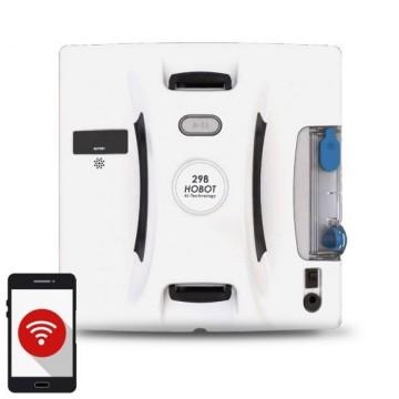 poza Robot curatare geamuri cu pulverizator HOBOT 298 alb, Bluetooth, UPS incorporat