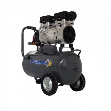 Poza Stager HM24JW-0.75 Compresor aer silentios 24L, 165 L/min
