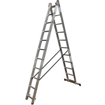 poza Scara KRAUSE multifunctionala 2x11 trepte, aluminiu, inaltime lucru 6.2m, CORDA