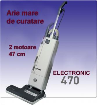poza Aspirator profesional cu electrobatator SEBO ELECTRONIC 470, Aspirator vertical, 2 motoare